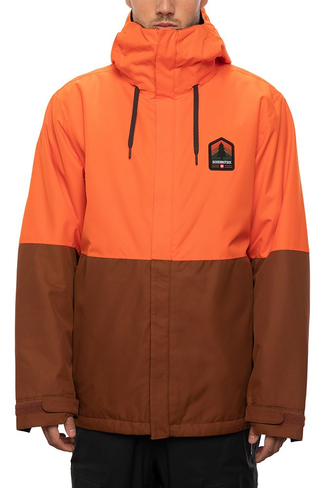 686 foundation insulated jacket solar orange