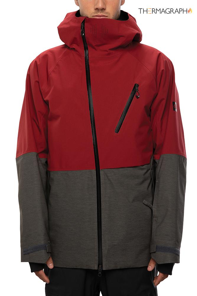 686 glcr hydra thermagraph jkt charcoal heather