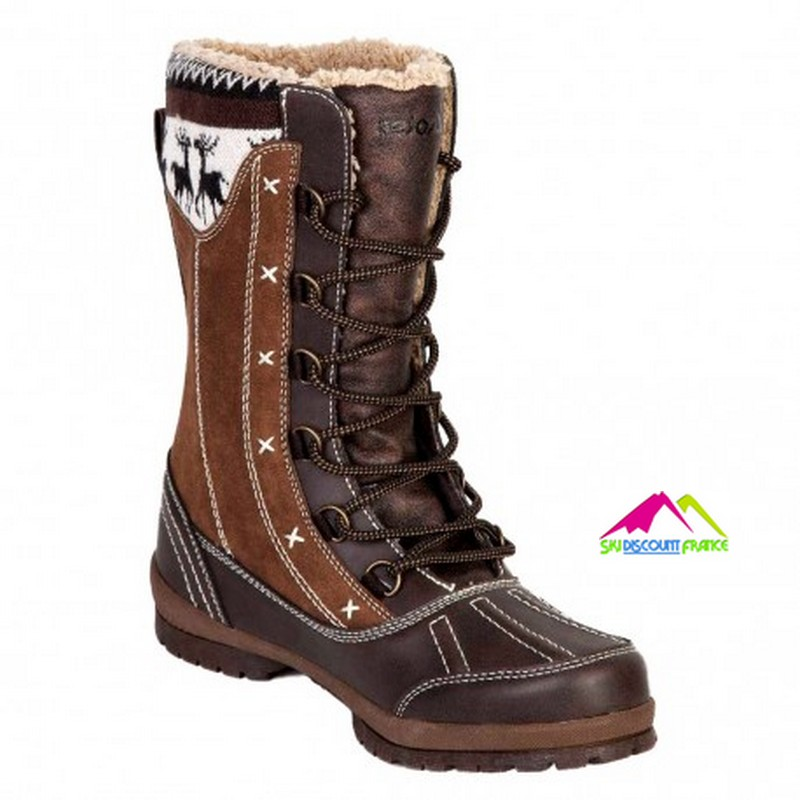 Apres ski femme chaudes snow legend perty marron