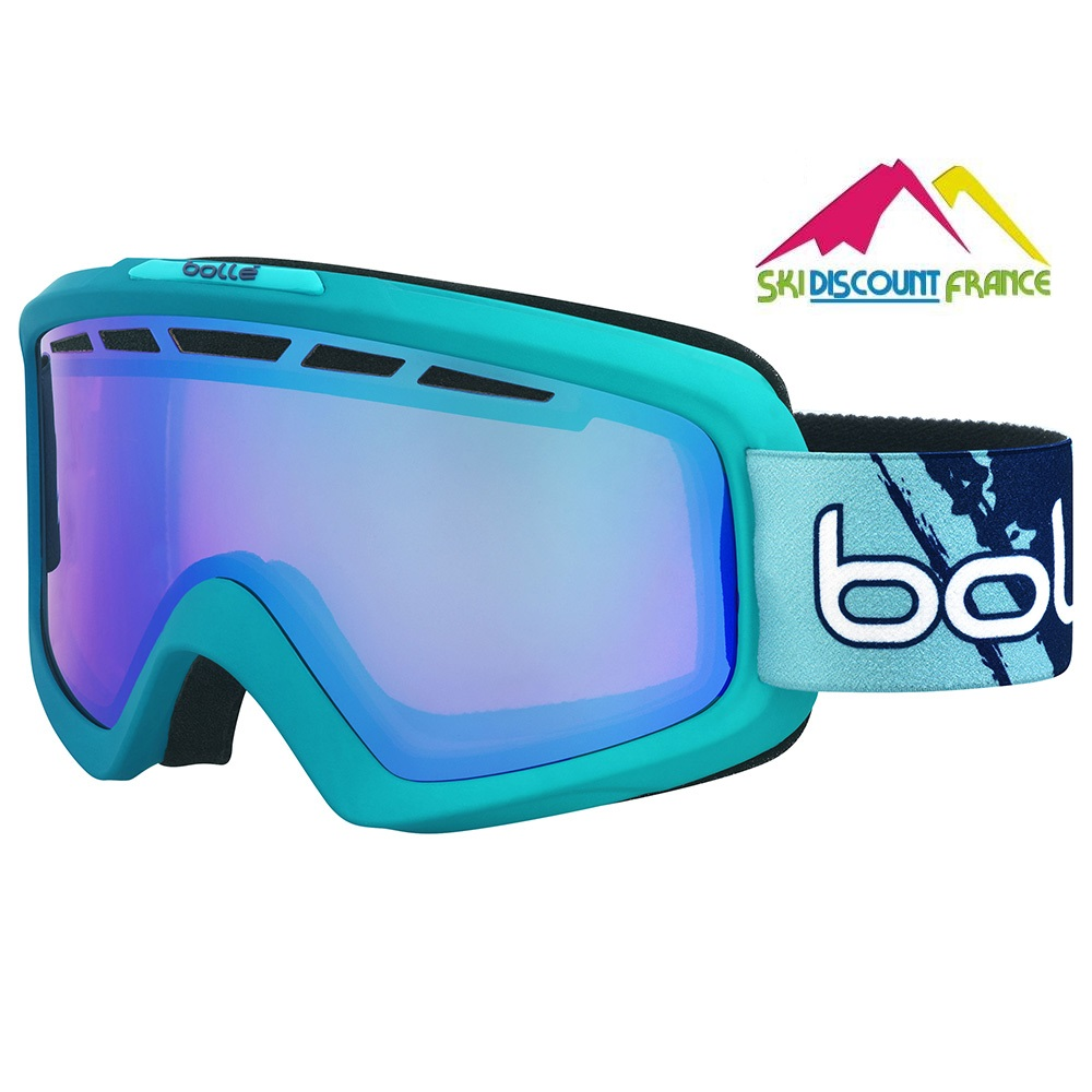 Masque de ski Neuf Bollé Nova II Matt Blue Gradient Modulator Photochromic