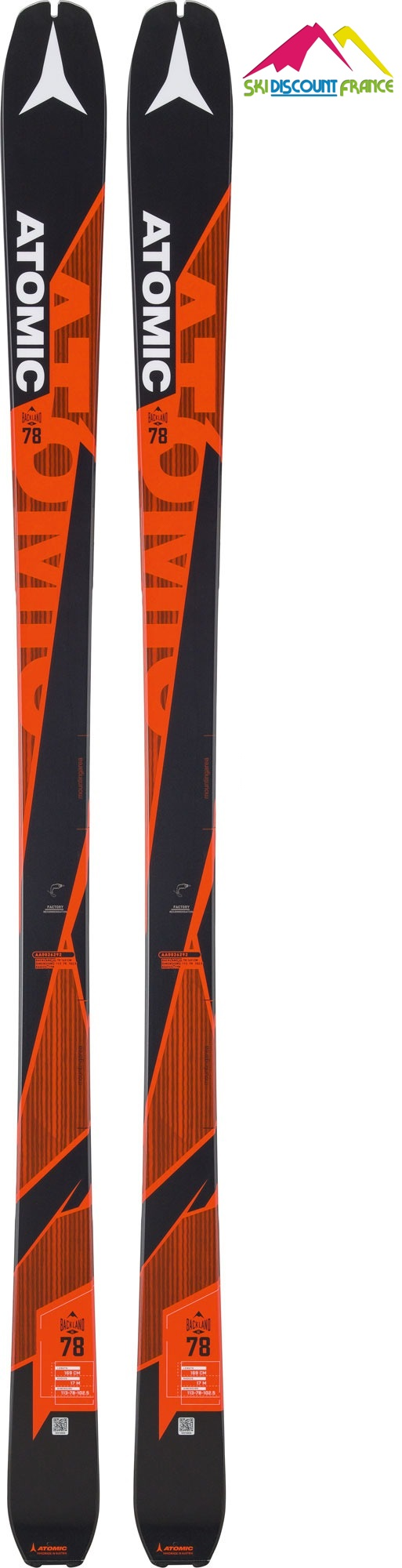 Ski Neuf Atomic Blackland UL 78 Sans Fixations