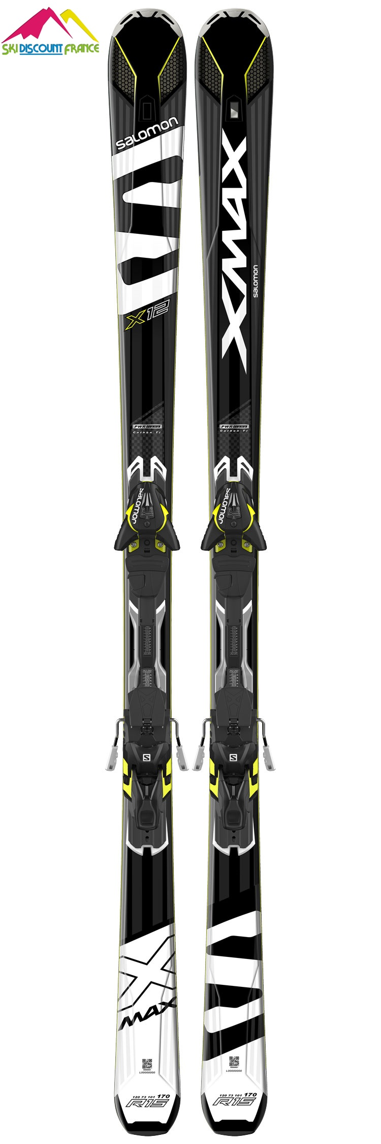 pack ski neuf salomon x max 12 fixations xt12 ski discount 34. Black Bedroom Furniture Sets. Home Design Ideas