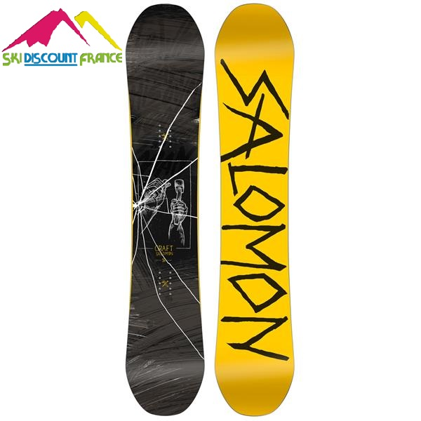 Snowboard Neuf Salomon Craft Jaune Noir