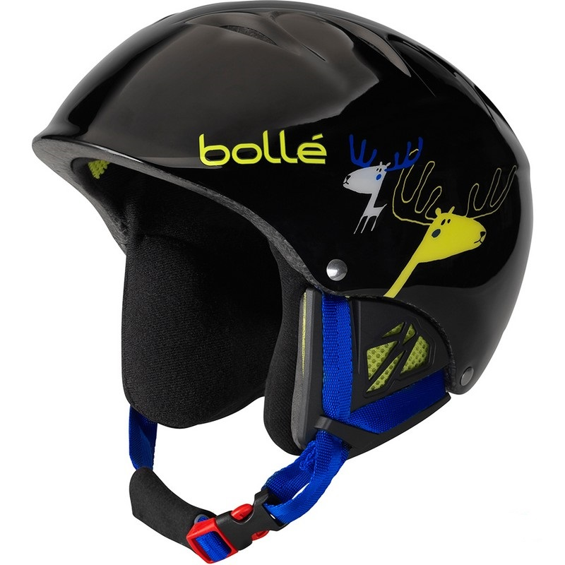 casque de ski enfant b kid black caribou reglable