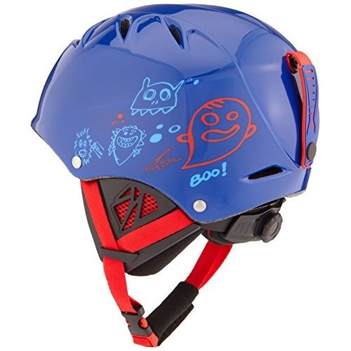 casque de ski enfant bolle b kid shiny blue monster