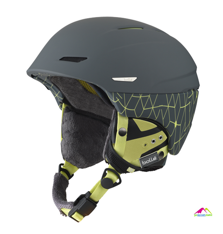 casque de ski bolle millenium soft grey and yellow iceberg