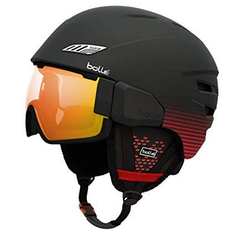 casque bolle osmoz soft black red pas cher