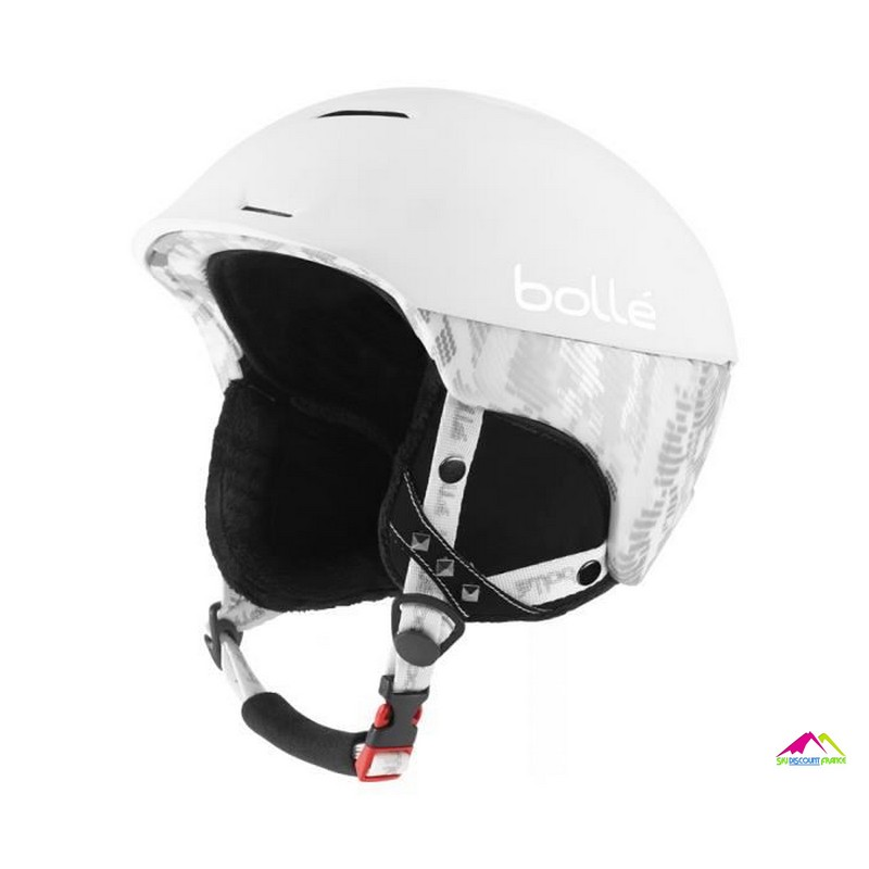 casque de ski bolle synergy soft white