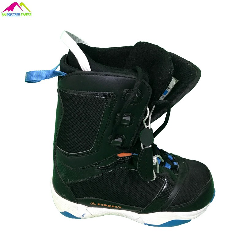 boots de snowboard junior occasion firefly blue black