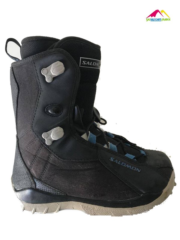 Boots de snow Occasion Salomon Kamok Noir Bleu Adulte Mixte