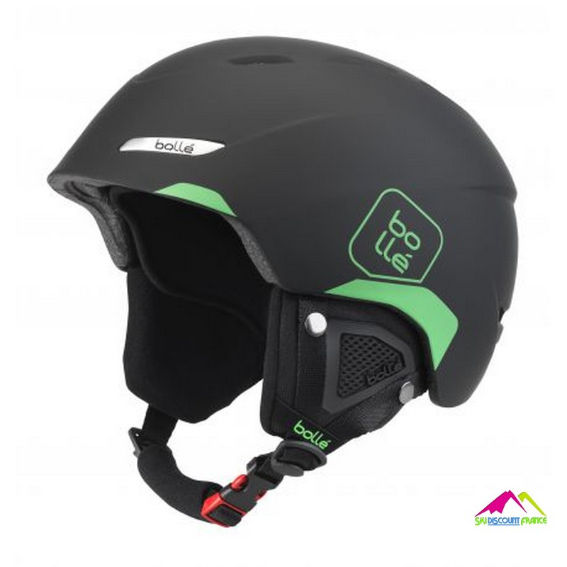 casque de ski adulte reglable bolle b yond soft black and green