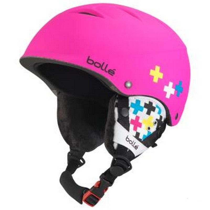 casque de ski junior rose bolle b free soft pink cross
