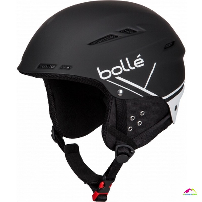 casque noir mat homme bolle b fun soft and white