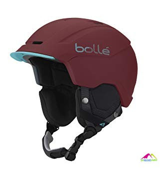 casque de ski bolle instinct soft bordeaux mint