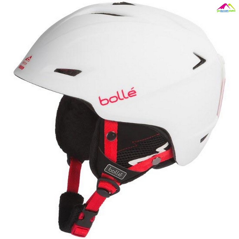 casque de ski bolle sharp soft white reglable