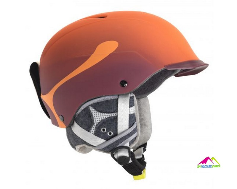casque de ski orange cebe contest visor pro orange