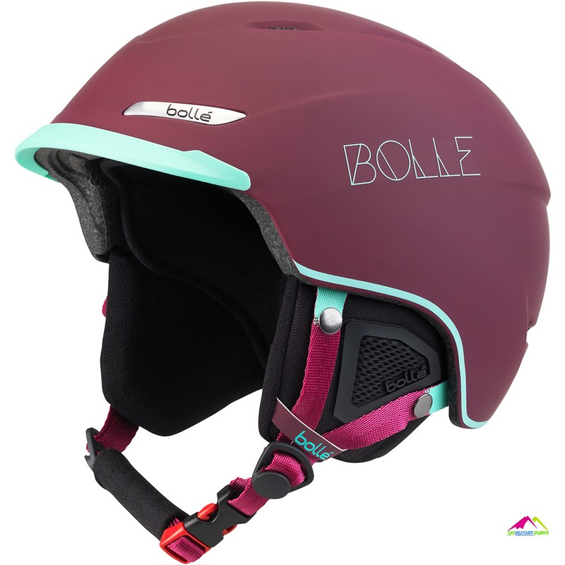 casque de ski femme bolle beat soft cherry and mint