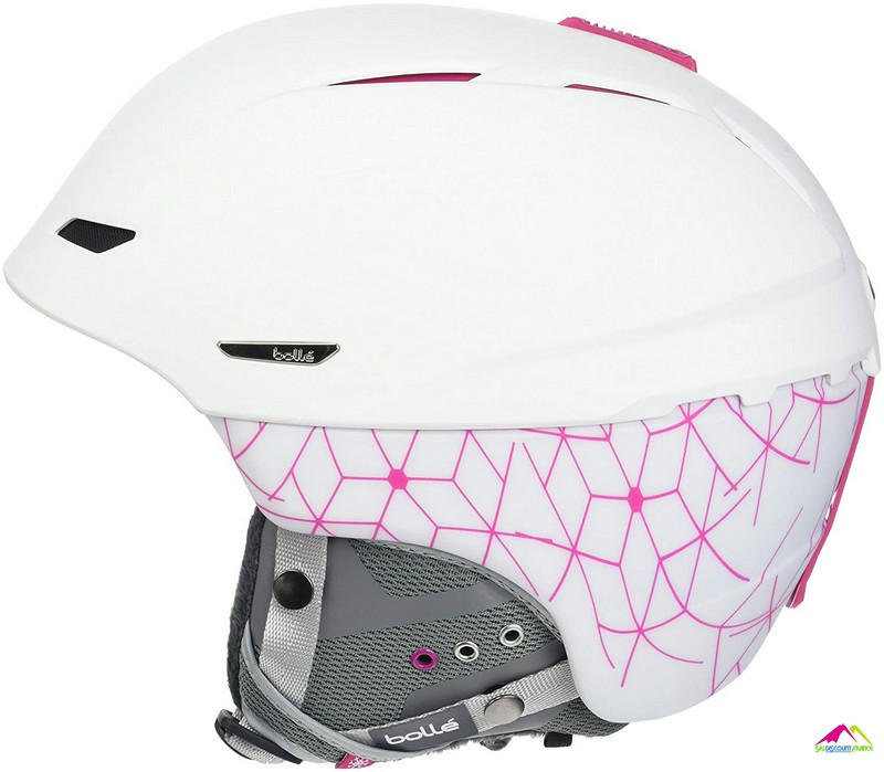 casque femme bolle millenium soft white and pink iceberg