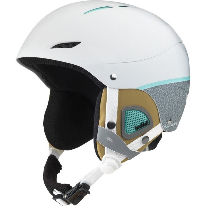 casque de ski fille bolle juliet soft white and grey
