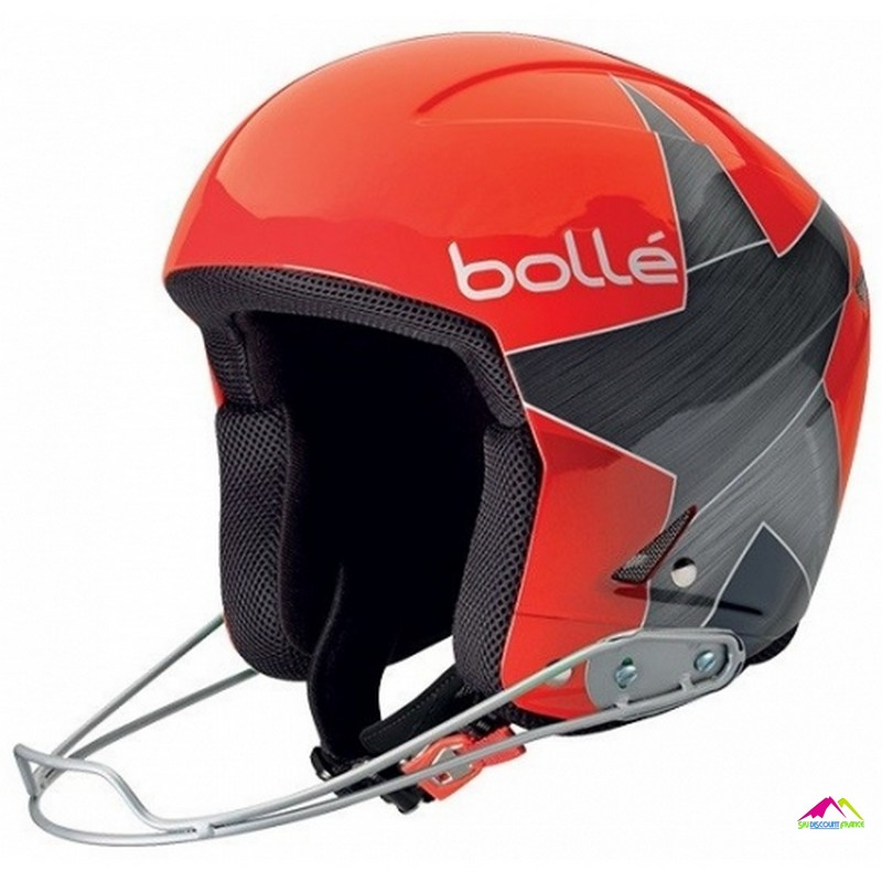 casque de ski fis bolle podium shiny red star fis