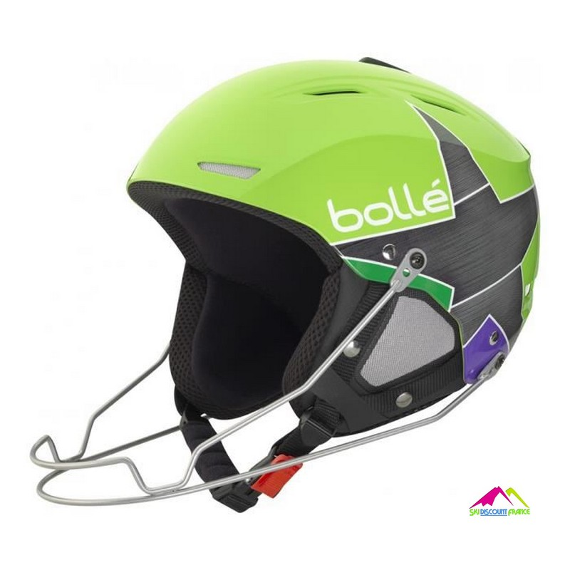 casque de ski Fis Bolle backline racing shiny green casque de ski homologue fis