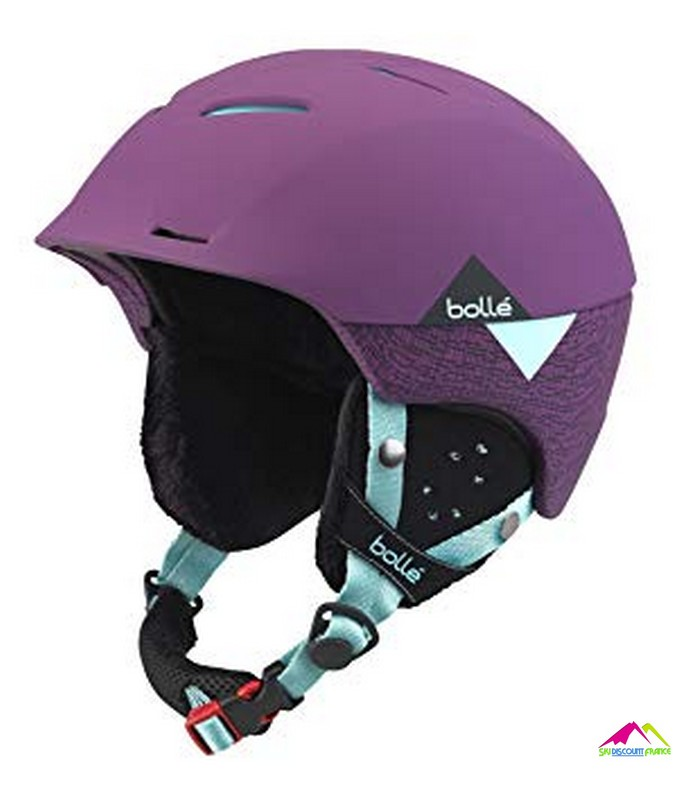 casque de ski bolle synergy soft purple and mint