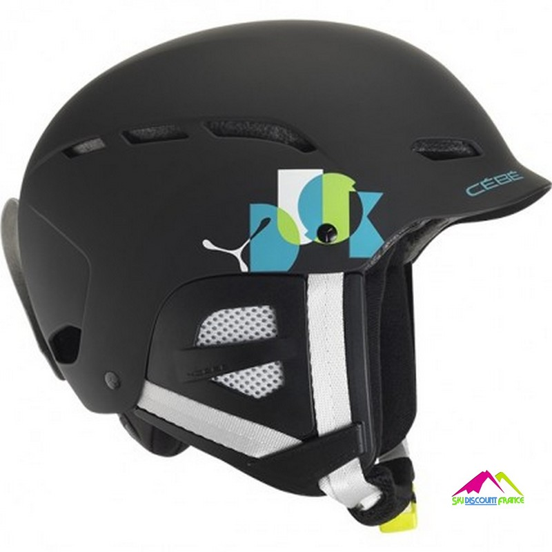 casque de ski junior cebe dusk black name