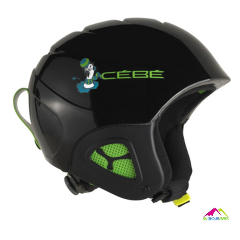 casque de ski enfant reglable cebe pluma basics black seal