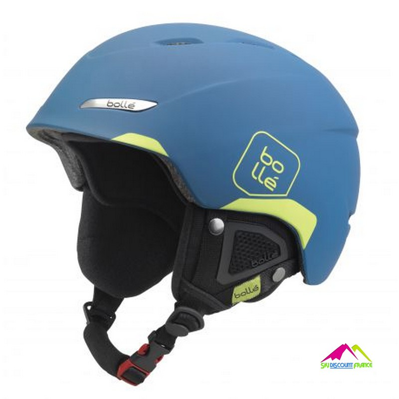 casque de ski mat bolle b-yond soft blue and lime