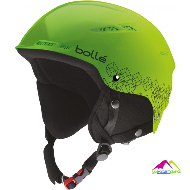 casque de ski enfant réglable bolle b rent shiny green black