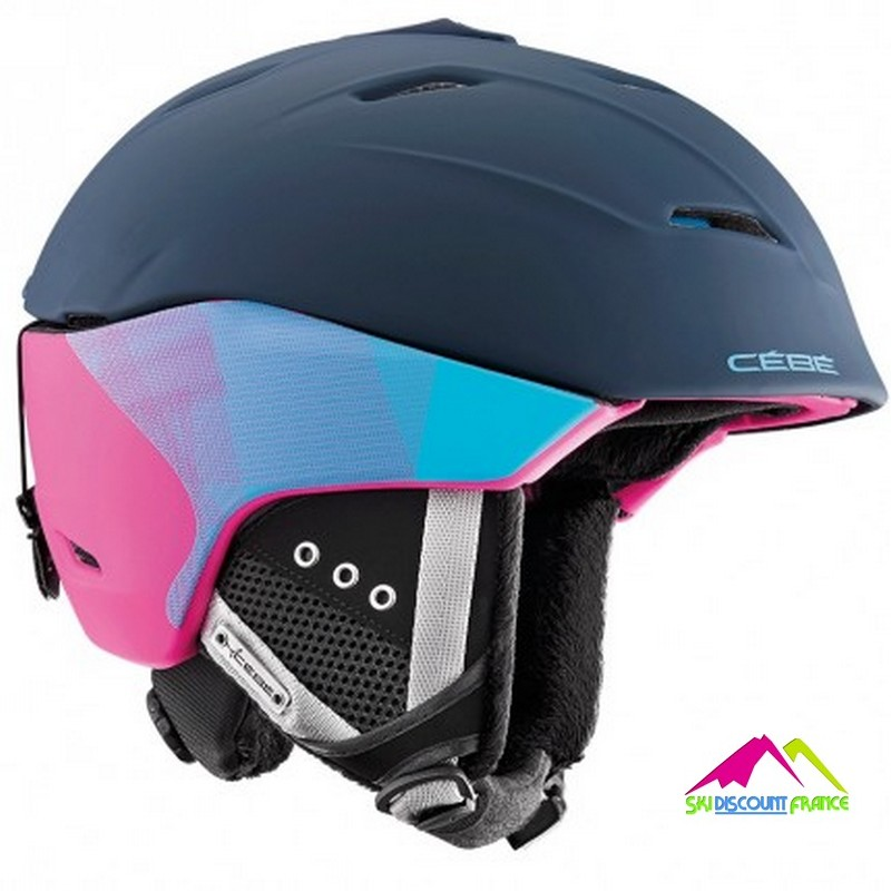 casque de ski cebe atmosphere 2.0 matt blue pink
