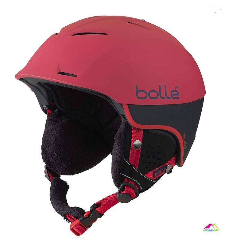casque de ski rouge bolle synergy soft red