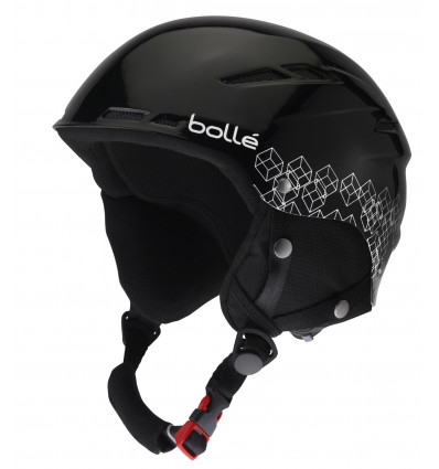 casque de ski bolle b rent shiny black silver