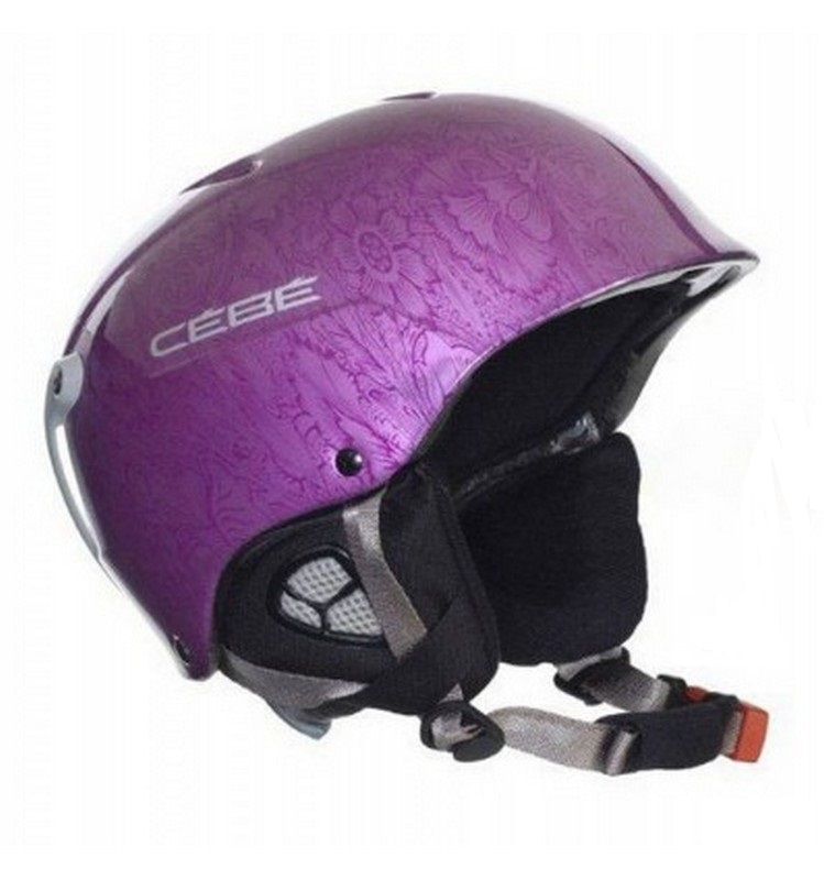 casque de ski femme cebe contest shiny mettalic purple
