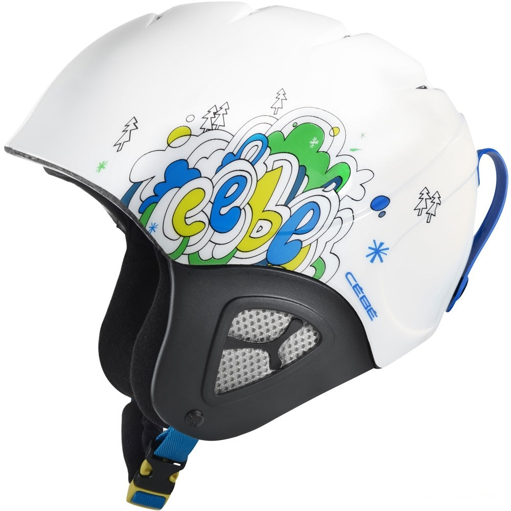 Casque de ski junior reglable Neuf Cébé Pluma Basics White Forest