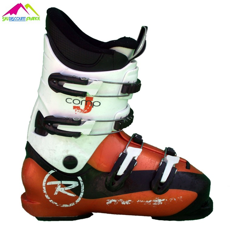 Chaussures de ski junior occasion rossignol radical j orange blanc