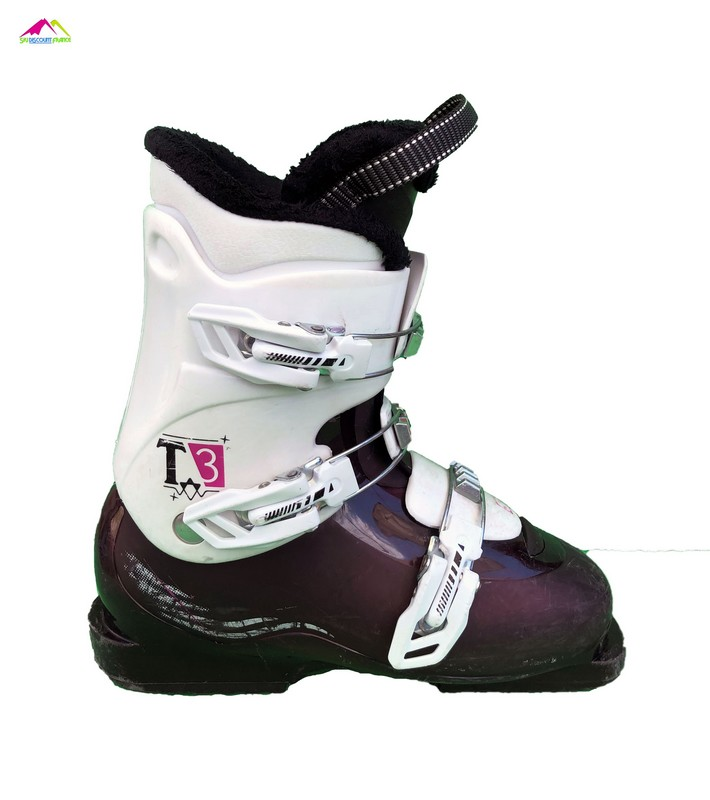 chaussures de ski enfant salomon team 3 white pink