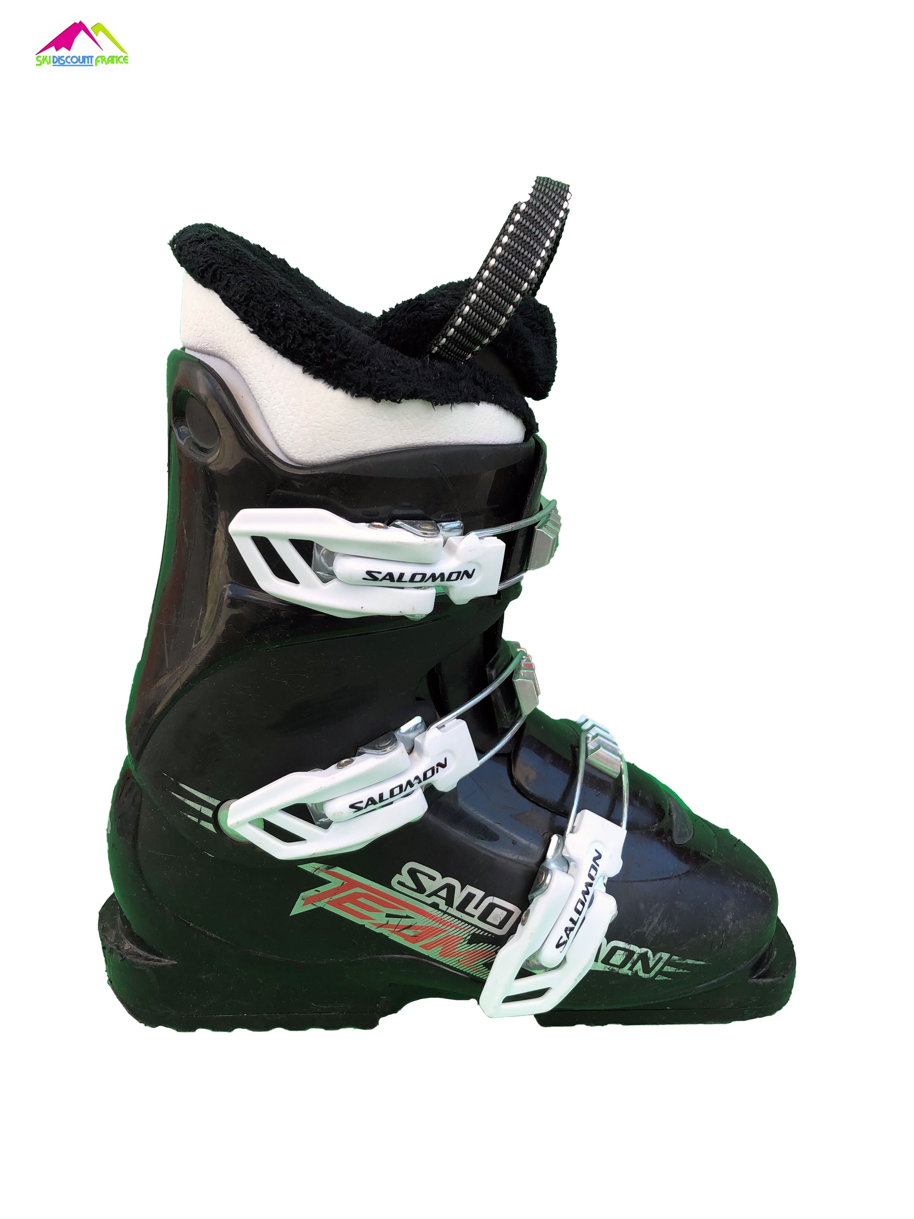 chaussures de ski occasion junior salomon team 3 black