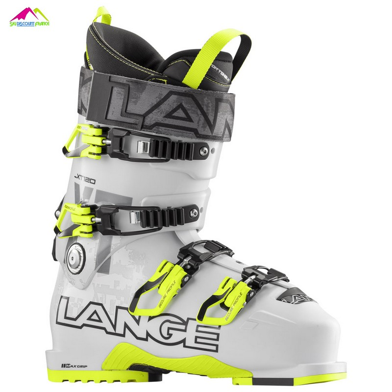 chaussures de ski freeride lange xc120 mineral white yellow 2018