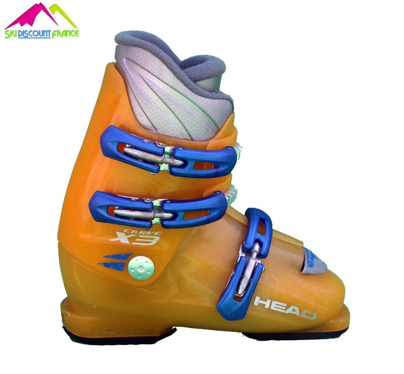 chaussures de ski enfant occasion head carve x4 orange bleu