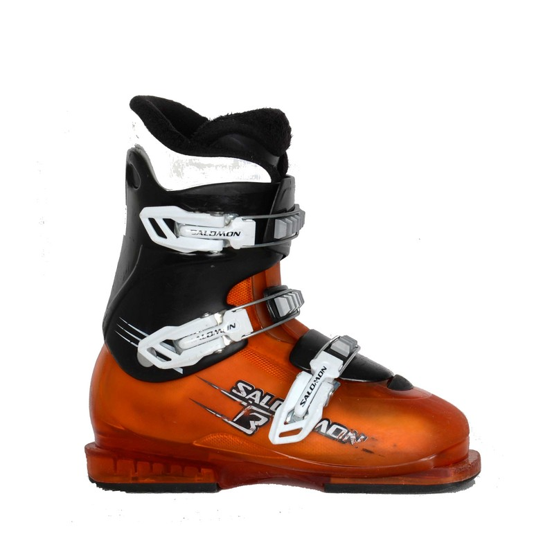 chaussures de ski junior occasion salomon team 3 orange