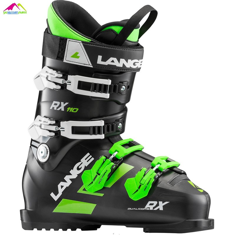 chaussures de ski lange rx 110 black green 2019
