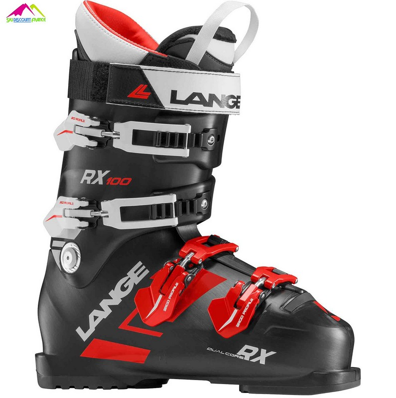 chaussures de ski lange 2019 lange rx 100 black red
