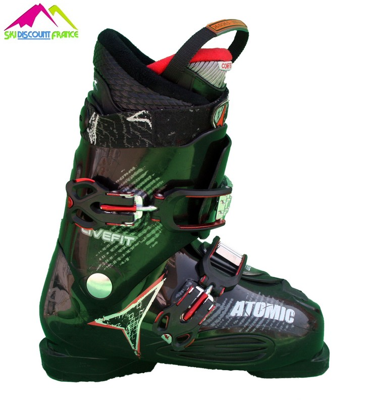 chaussures de ski occasion atomic live fit black red