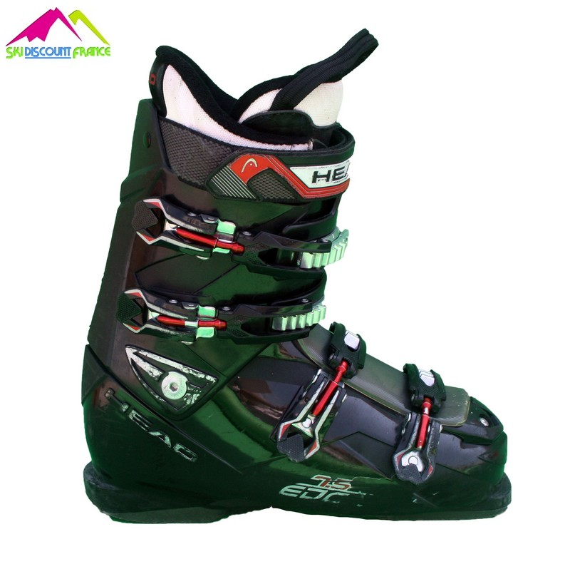 chaussures de ski occasion head edge 7.5 black red