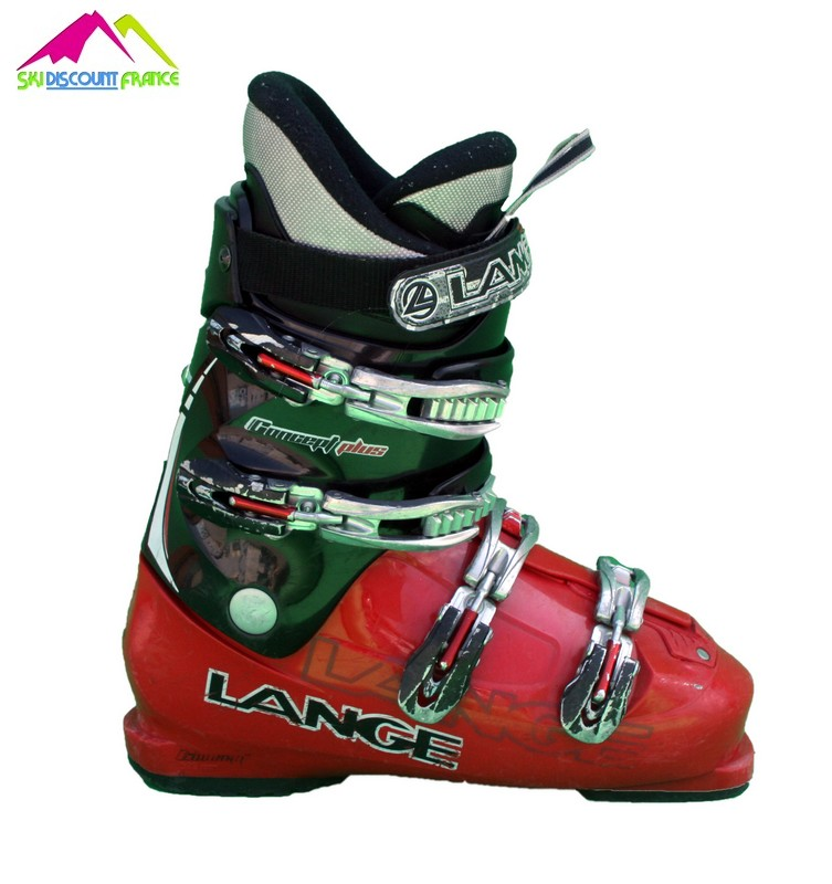 chaussures de ski occasion lange concept plus red black