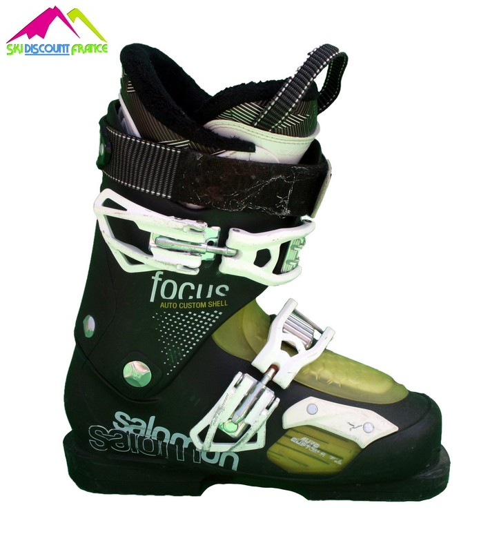 Chaussures de ski salomon focus black yellow occasion