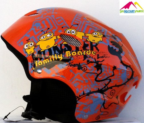 Casque de ski junior pas cher lhotse epidote orange