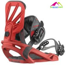 Fixations de snowboard freestyle salomon tactic red