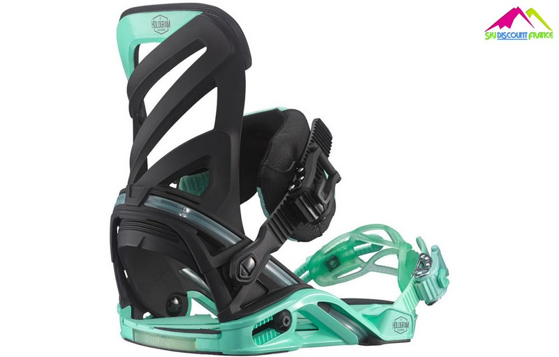 Fixations de snowboard mixte salomon hologram black green 2016
